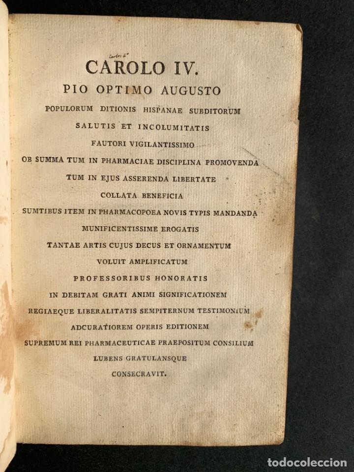 Libros antiguos: 1803 - Pharmacopoea Hispana - Farmacia Española - Formulas - Medicina - - Foto 5 - 146624278