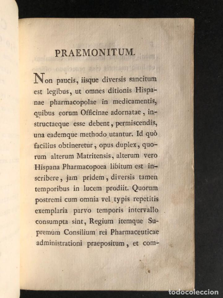 Libros antiguos: 1803 PHARMACOPOEA HISPANA - Farmacia - Medicina - FARMACOPEA - Foto 7 - 146757670