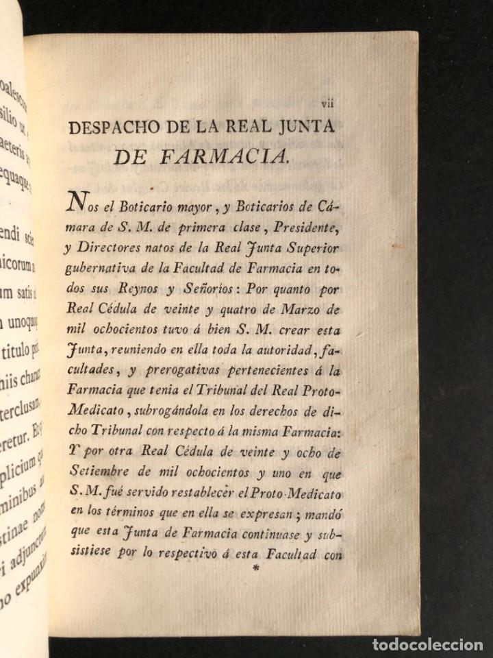 Libros antiguos: 1803 PHARMACOPOEA HISPANA - Farmacia - Medicina - FARMACOPEA - Foto 8 - 146757670