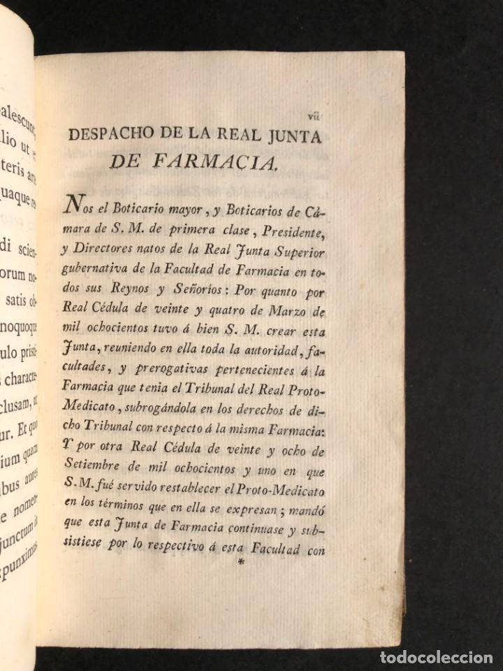 Libros antiguos: 1803 PHARMACOPOEA HISPANA - Farmacia - Medicina - FARMACOPEA - Foto 7 - 176368510