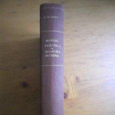 Libros antiguos: MANUAL PRACTICO DE MEDICINA INTERNA VON DOMARUS MANUEL MARIN EDITOR 1930 . Lote 147291034