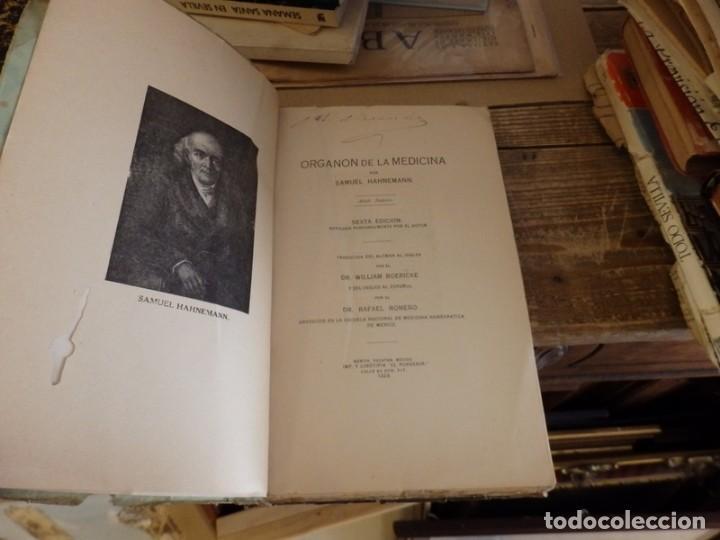 Libros antiguos: organon de la medicina. samuel hahnemann. mexico 1929. homeopatia, 321 paginas - Foto 2 - 147450838