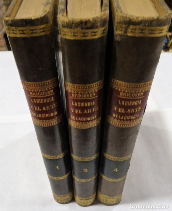 Libros antiguos: LA CIENCIA Y EL ARTE DE LA CIRUGIA. JUAN ERIC ERICHESEN TOMOI- TOMO II (AÑO 1883) TOMO IV 1884 - Foto 14 - 150513216