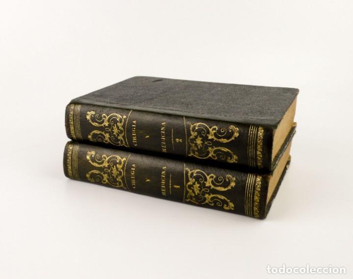 Libros antiguos: Nuevos Elementos de Cirugía y Medicina - Obra completa 2 tomos - año 1846 - Foto 4 - 149139950
