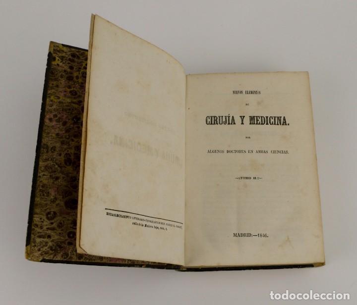 Libros antiguos: Nuevos Elementos de Cirugía y Medicina - Obra completa 2 tomos - año 1846 - Foto 10 - 149139950