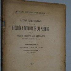Libros antiguos: ETIOLOGIA Y PATOLOGÍA DE LAS PLEURITIS.. Lote 149303698