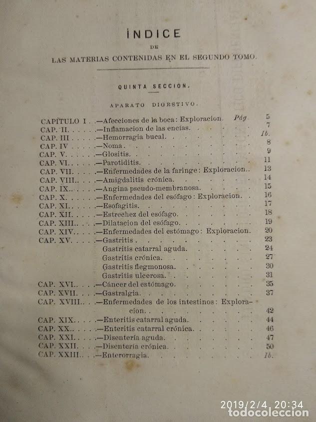 Libros antiguos: Patología y clínica médicas. Vilches. 1875. 2 tomos - Foto 9 - 148696954