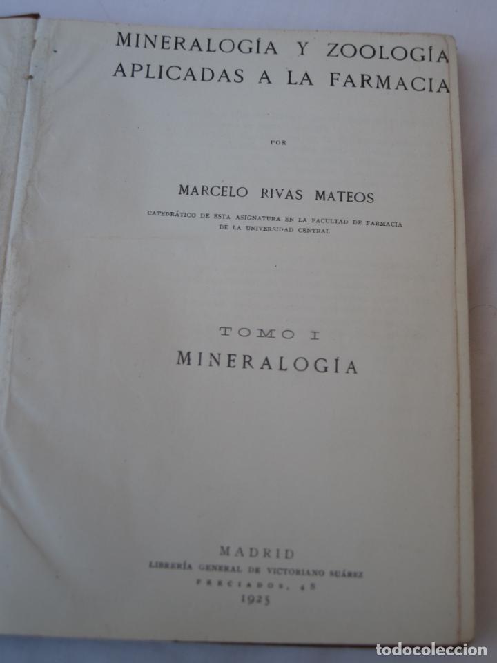 Libros antiguos: MINERALOGIA Y ZOOLOGIA APLICADAS A LA FARMACIA. - Foto 2 - 150141250