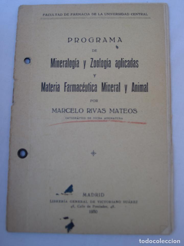 Libros antiguos: MINERALOGIA Y ZOOLOGIA APLICADAS A LA FARMACIA. - Foto 11 - 150141250