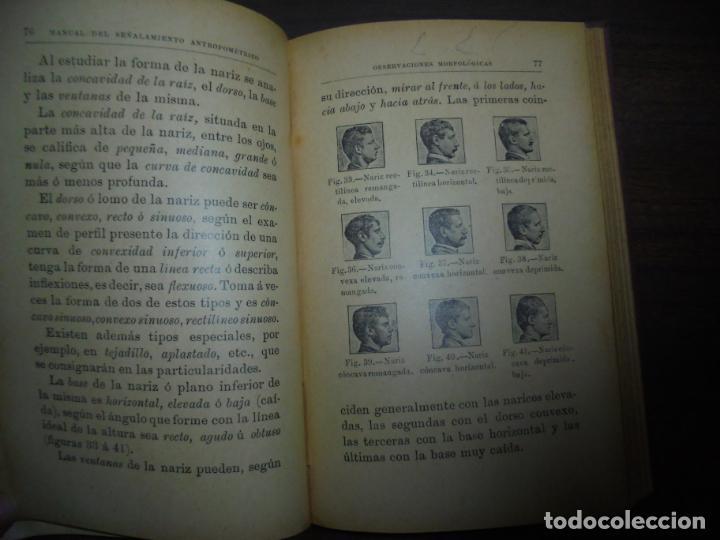Libros antiguos: MANUAL DEL SEÑALAMIENTO ANTROPOMÉTRICO. D. JOAQUIN GARCIA PLAZA Y ROMERO. 1902. - Foto 8 - 150750518