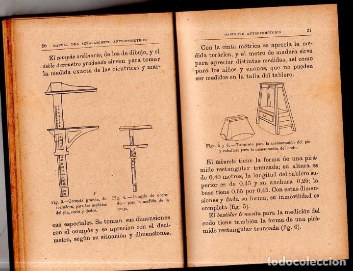 Libros antiguos: MANUAL DEL SEÑALAMIENTO ANTROPOMÉTRICO. D. JOAQUIN GARCIA PLAZA Y ROMERO. 1902. - Foto 3 - 150750518