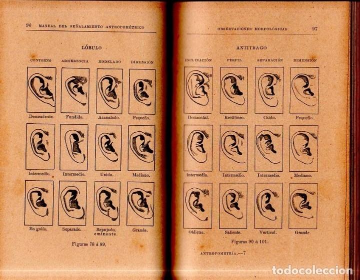 Libros antiguos: MANUAL DEL SEÑALAMIENTO ANTROPOMÉTRICO. D. JOAQUIN GARCIA PLAZA Y ROMERO. 1902. - Foto 4 - 150750518