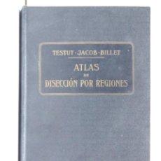 Libros antiguos: ATLAS DE DISECCIÓN POR REGIONES - TESTUT – JACOB - BILLET - BARCELONA 1921. Lote 151012358