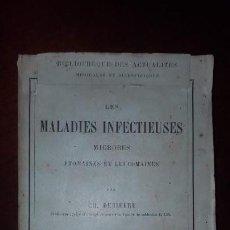Libros antiguos: LES MALADIES INFECTIEUSES - PARÍS - 1888. Lote 151657862