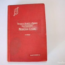Libros antiguos: MEDICINA LEGAL. 1926. Lote 153081386