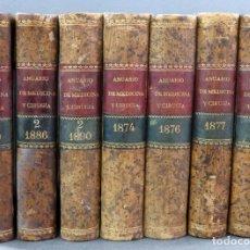 Libros antiguos: ANUARIO DE MEDICINA Y CIRUGÍA REVISTA SEMESTRAL BAILLY BAILLIÈRE 1874 1876 1877 1879 1886 1889 1890. Lote 153224086