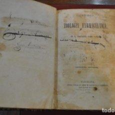 Libros antiguos: LECCIONES DE ZOOLOGIA FARMACEUTICA DR. FRUCTUOSO PLANS 1870 - AMSM. Lote 153811378