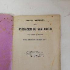 Livres anciens: RESERVADO ESTADOGENERAL ASOCIACIÓN DE SANTANDER, PARA SOCORRO DE HERIDOS, HOSPITAL DE MIRANDA. 1875. Lote 153866122