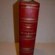 Libros antiguos: LIBRO CON LOMO DE PIEL Y NERVIOS....TRATADO DE ENFERMEDADES DE MUJERES...AÑO. 1881.. Lote 153996302