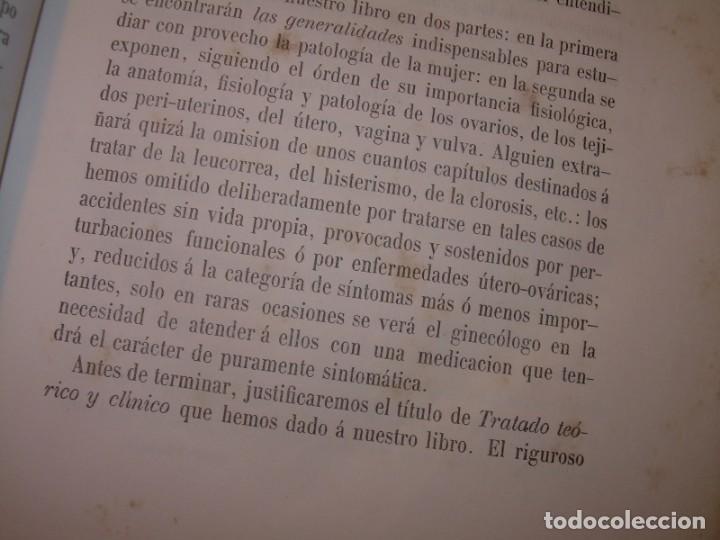 Libros antiguos: LIBRO CON LOMO DE PIEL Y NERVIOS....TRATADO DE ENFERMEDADES DE MUJERES...AÑO. 1881. - Foto 5 - 153996302