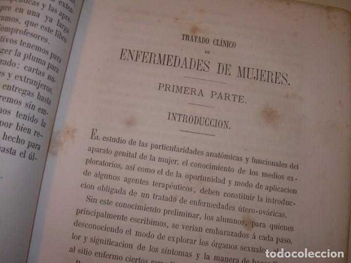 Libros antiguos: LIBRO CON LOMO DE PIEL Y NERVIOS....TRATADO DE ENFERMEDADES DE MUJERES...AÑO. 1881. - Foto 7 - 153996302