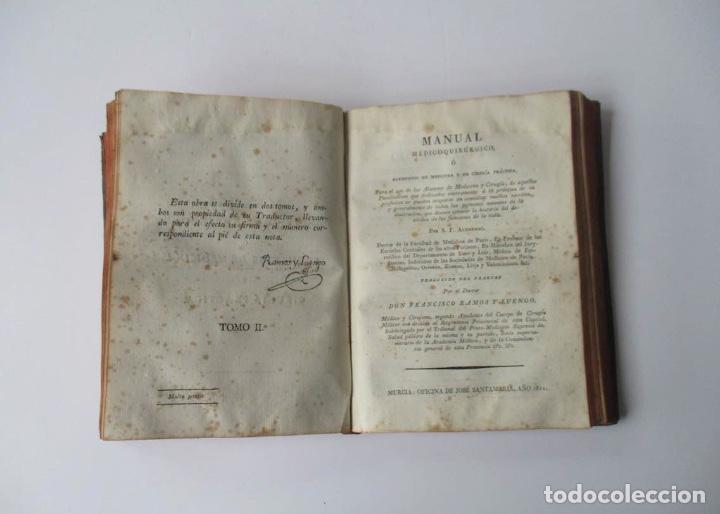 Libros antiguos: MANUAL MEDICO-QUIRURGICO O ELEMENTOS DE MEDICINA Y CIRUGIA PRACTICA - DOS TOMOS - AÑO 1820, MURCIA - Foto 9 - 154603054