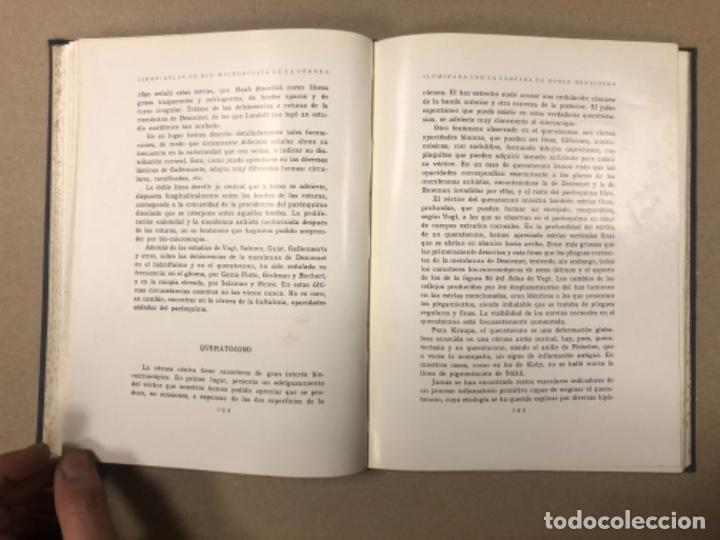 Libros antiguos: LIBRO-ATLAS DE BIO-MICROSCOPÍA DE LA CÓRNEA... J. LÓPEZ - LACARRÈRE. - Foto 8 - 154621174