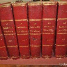 Libros antiguos: REVISTA LA FARMACIA ESPAÑOLA , 7 TOMOS AÑOS 1903 AL 1909 - AMSM. Lote 154828946
