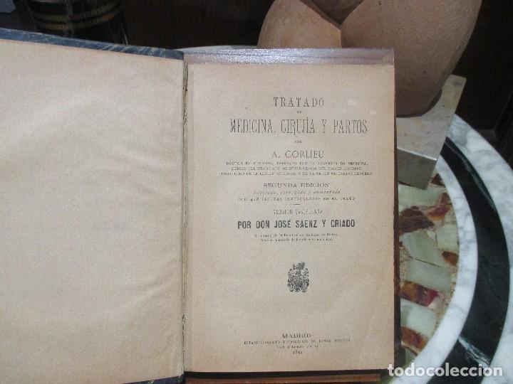 Libros antiguos: Tratado de Medicina Cirugía y Partos,(1871) - Foto 3 - 154960114