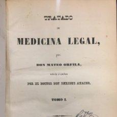 Libros antiguos: TRATADO DE MEDICINA LEGAL. MATEO ORFILA. Lote 155281362