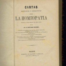 Libros antiguos: LA HOMEOPATÍA, POR CAYETANO CRUXENT. AÑO 1908. (MENORCA.3.1). Lote 155755186