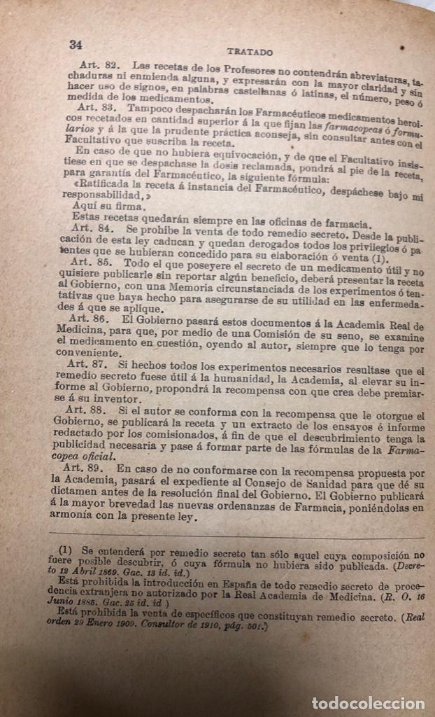 Libros antiguos: TRATADO DE SANIDAD. IMPRENTA EL CONSULTOR. MADRID 1914. PAGS 747. - Foto 8 - 156469674