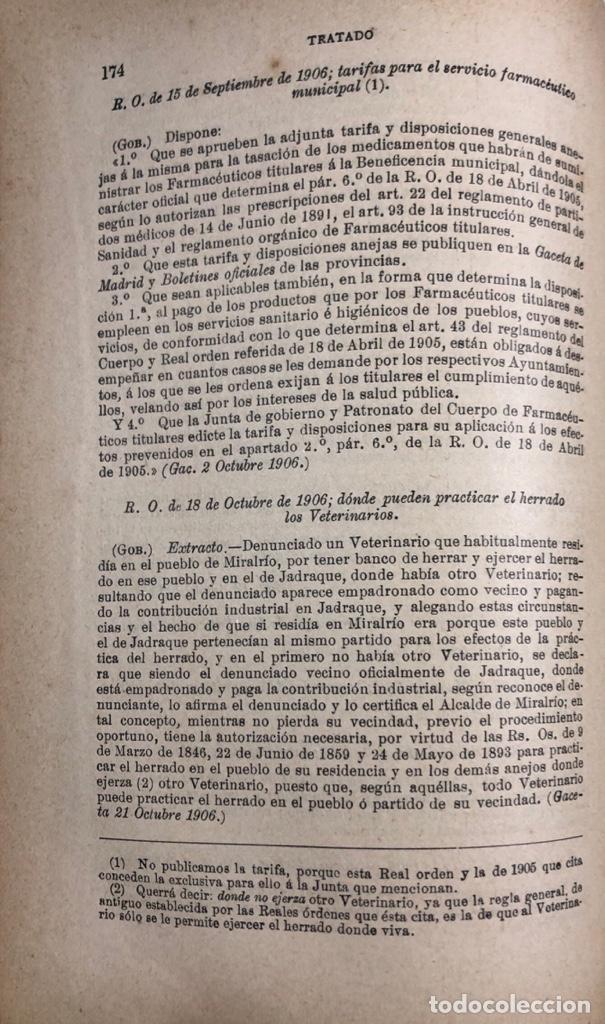 Libros antiguos: TRATADO DE SANIDAD. IMPRENTA EL CONSULTOR. MADRID 1914. PAGS 747. - Foto 9 - 156469674