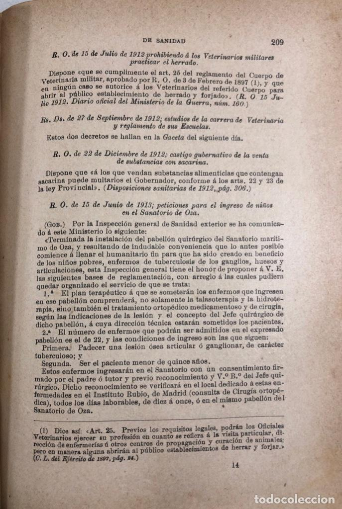 Libros antiguos: TRATADO DE SANIDAD. IMPRENTA EL CONSULTOR. MADRID 1914. PAGS 747. - Foto 10 - 156469674