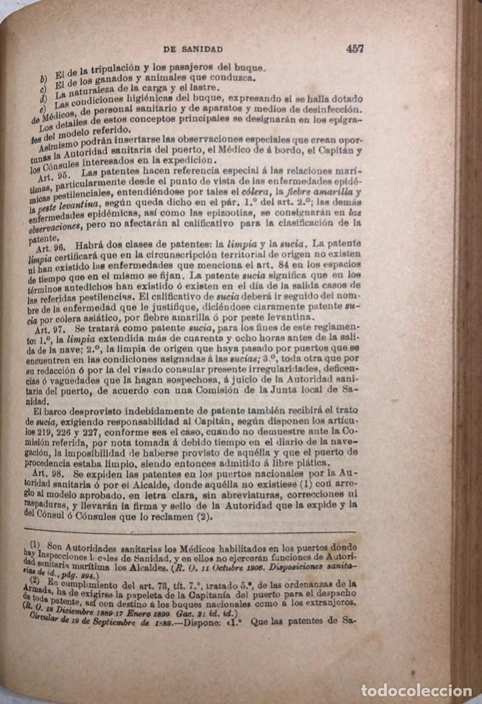 Libros antiguos: TRATADO DE SANIDAD. IMPRENTA EL CONSULTOR. MADRID 1914. PAGS 747. - Foto 12 - 156469674