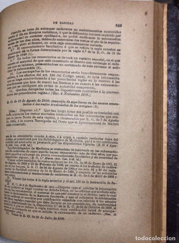 Libros antiguos: TRATADO DE SANIDAD. IMPRENTA EL CONSULTOR. MADRID 1914. PAGS 747. - Foto 14 - 156469674