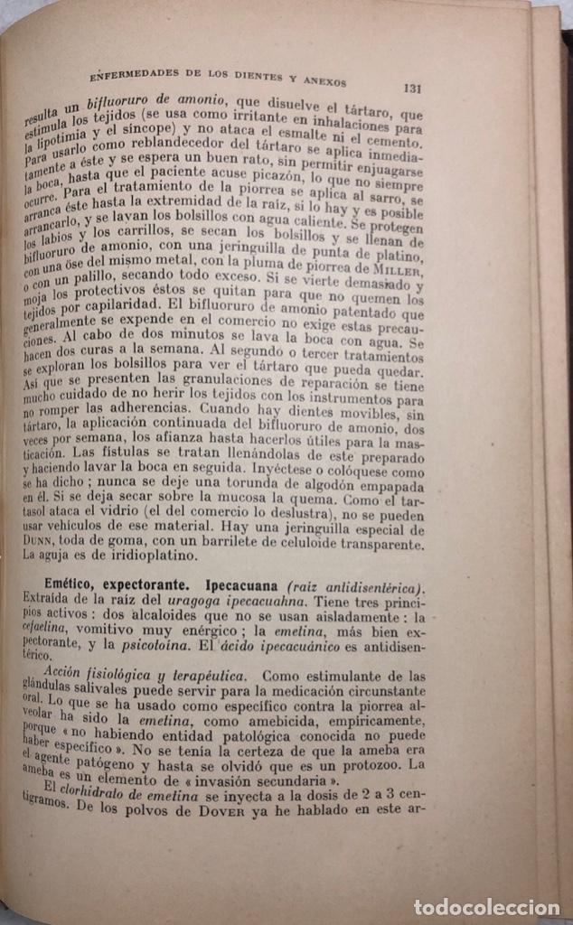 Libros antiguos: TERAPEUTICA APLICADA A LA ESTOMATOLOGIA CON SU CLINICA E HIGIENE ORAL. ISMAEL CLARK. - Foto 11 - 156470098
