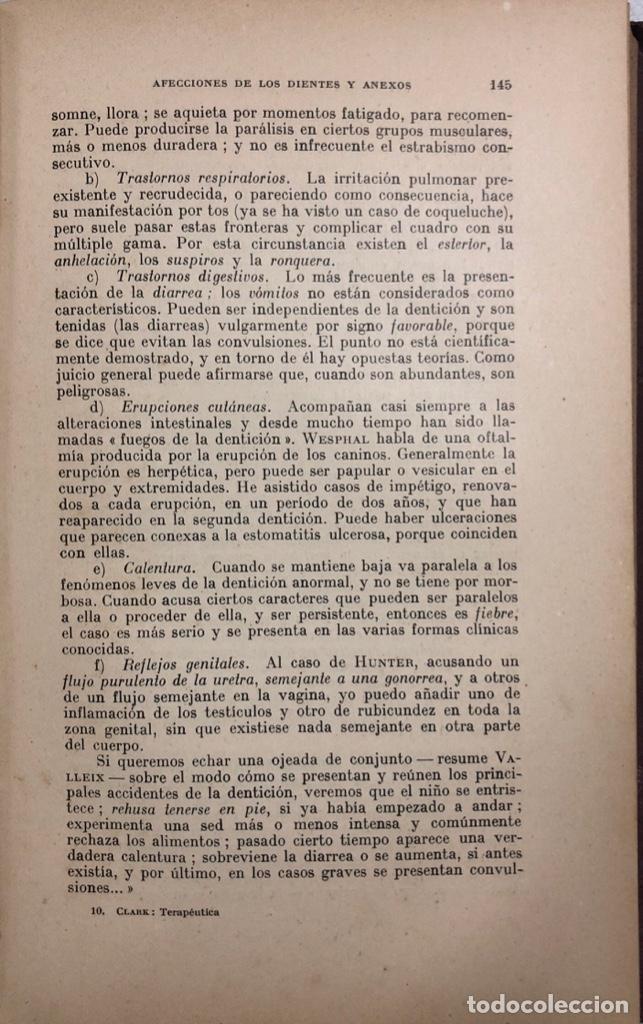 Libros antiguos: TERAPEUTICA APLICADA A LA ESTOMATOLOGIA CON SU CLINICA E HIGIENE ORAL. ISMAEL CLARK. - Foto 12 - 156470098