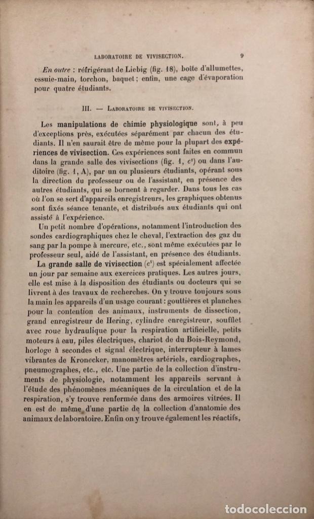 Libros antiguos: MANIPULATIONS DE PHYSIOLOGIE. LEON FREDERICO. LIBRO EN FRANCES. PARIS 1892. PAGS 283. - Foto 3 - 156481554