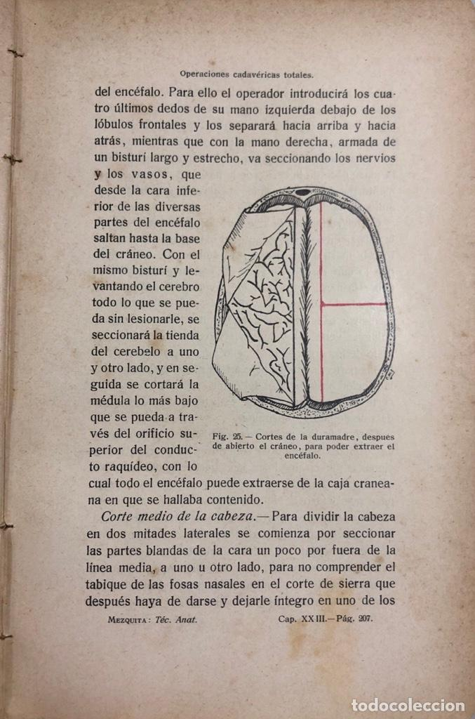 Libros antiguos: MANUAL DE TECNICA ANATOMICA. DANIEL MEZQUITA MORENO. MADRID 1918. PAGS 593. - Foto 4 - 156486330