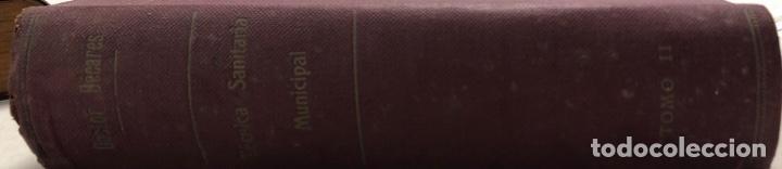 Libros antiguos: LOTE DE TECNICA SANITARIA MUNICIPAL. TOMOS I Y II. DOCTOR BECARES. VALLADOLID 1935. - Foto 6 - 156493138