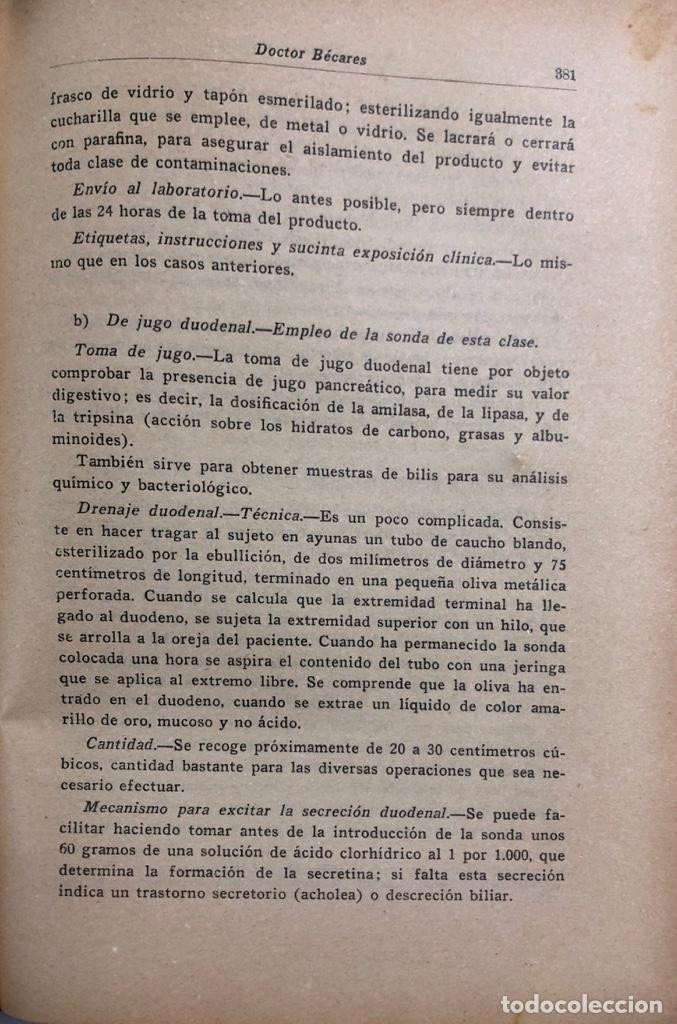 Libros antiguos: LOTE DE TECNICA SANITARIA MUNICIPAL. TOMOS I Y II. DOCTOR BECARES. VALLADOLID 1935. - Foto 8 - 156493138
