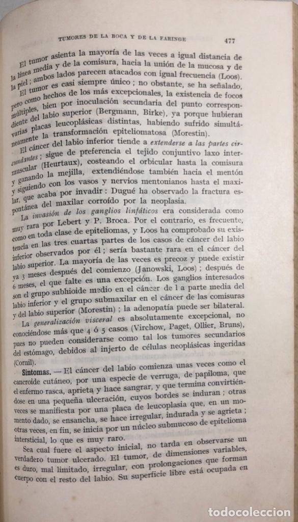 Libros antiguos: TRATADO DE PATOLOGIA QUIRURGICA. TOMO II. H. BOURGEOIS Y CH. LENORMANT. BARCELONA 1925. PAGS 1048 - Foto 4 - 156498726