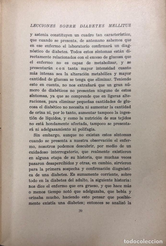 Libros antiguos: LECCIONES SOBRE DIABETES MELLITUS. EDITORIAL PARCELSO. MADRID 1930. PAGS 167. - Foto 3 - 156962782