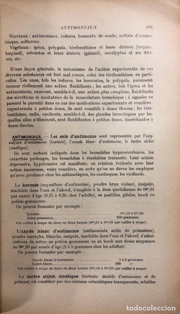 Libros antiguos: THERAPEUTIQUE CLINIQUE. A. MARTINEZ. TOME I. PARIS 1961. LIBRO EN FRANCES. PAGS 552. - Foto 3 - 157203058