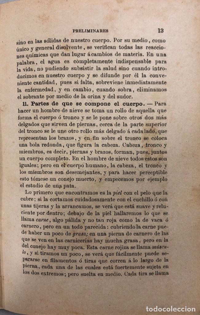 Libros antiguos: ELEMENTOS DE FISIOLOGIA E HIGIENE. FELIX SANCHEZ Y CASADO. MADRID 1885. PAGS 314. - Foto 3 - 157328014