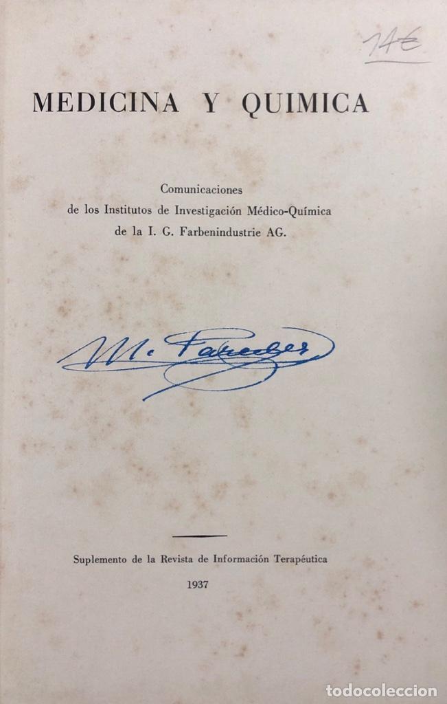 MEDICINA Y QUIMICA. SUPLEMENTO DE LA REVISTA DE INFORMACION TERAPEUTICO 1937. PAGS 239. (Libros Antiguos, Raros y Curiosos - Ciencias, Manuales y Oficios - Medicina, Farmacia y Salud)