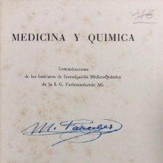 Libros antiguos: MEDICINA Y QUIMICA. SUPLEMENTO DE LA REVISTA DE INFORMACION TERAPEUTICO 1937. PAGS 239.. Lote 157330162