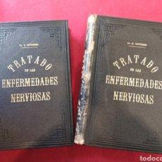 Libros antiguos: TRATADO DE LAS ENFERMEDADES NERVIOSAS - DR. H. OPPENHEIM - (2 TOMOS) - SEIX EDITOR, BARCELONA.. Lote 157691897