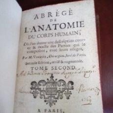 Libros antiguos: ABREGE DE L'ANATOMIE DU CORPS HUMAIN. TOMO II. ANATOMÍA S XVIII FRANCÉS.. Lote 158225334